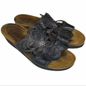 NAOT Slip On Black Sandal Sz L11 42